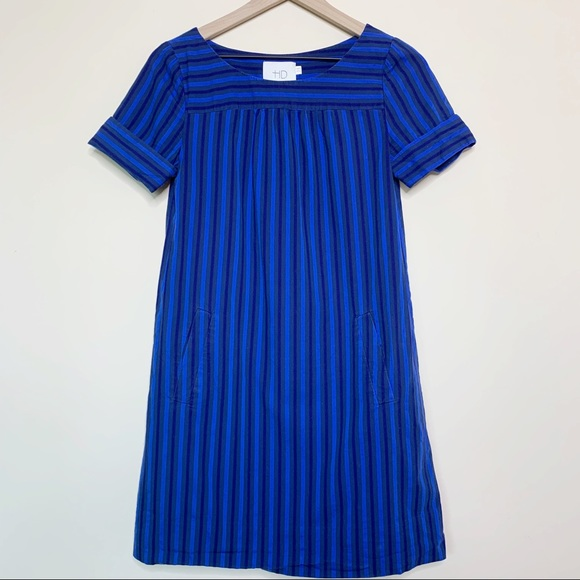 Anthropologie Dresses & Skirts - HD in Paris Cerulean Blue Striped Shift Dress